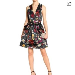 Alice + Olivia floral fit-and-flare dress